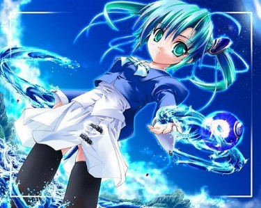 Anime Girl with Water Powers